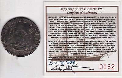 High Detail 1747 AUGUSTE SHIPWRECK(1761) Spanish Colonial MEXICO SILVER 8 Reales