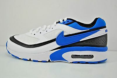 2d703bd3885 Nike Air Max BW GS Running Shoes Youth Size 6Y White Blue Black 820344 104