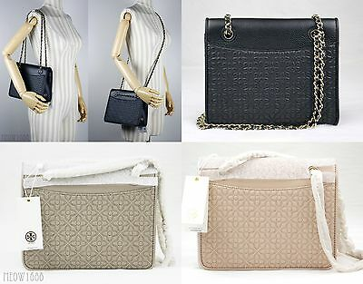 2afe23fa8d98 Tory Burch BRYANT Quilted Leather Shoulder Bag Cross Body Messenger 39068   465
