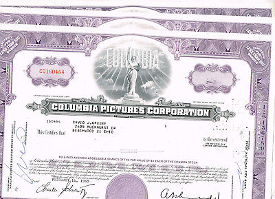 Set 3 Columbia Pictures Corp., 1950s, purple, VF+
