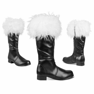 Mens Professional Deluxe Santa Boots Father Christmas Fancy Dress