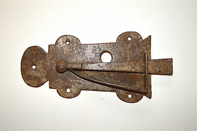 English antique wrought iron sprung door latch Suffolk latch c.1800