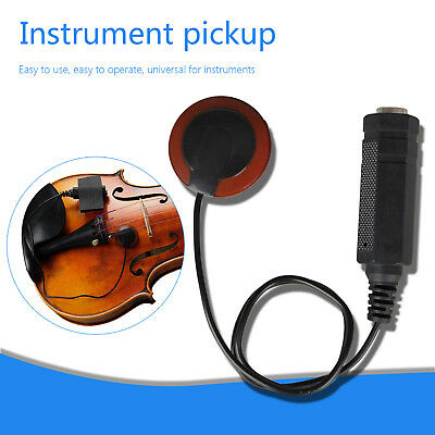 Acoustic Piezo Contact Microphone Pickup For Guitar Violin Ukulele Mandolin