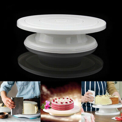Plastic Cake Plate Turntable Rotating Anti skid Round Cake Stand Rotary Table