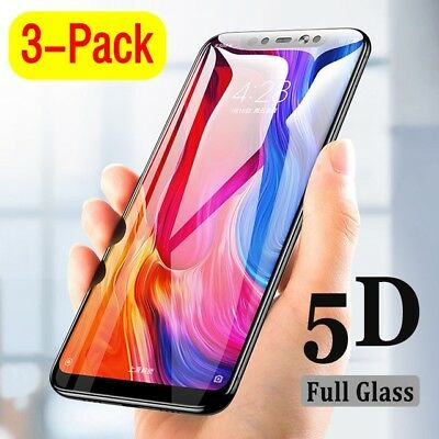 Xiaomi Redmi Note 6 Pro 5D 9H Full Coverage Tempered Glass Screen Protector LOT