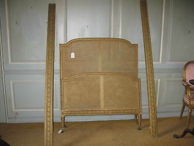 19th Century Giltwood Bergere Bed Frame