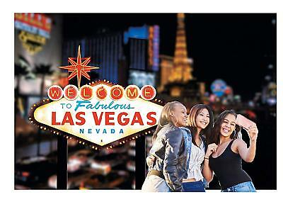 Viva Welcome To Las Vegas Backdrop  Banner (3 Piece) 9 ft. x 6 ft. Plastic
