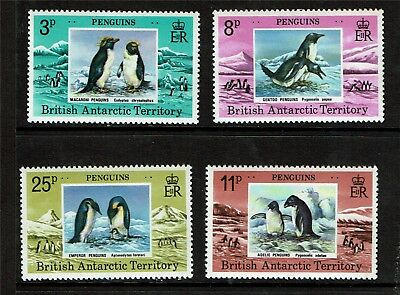 British Antarctic 1979 Penguins SG 89/92 MNH