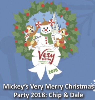 Disney Mickey's Very Merry Christmas Party 2018 Pin Chip & Dale NEW