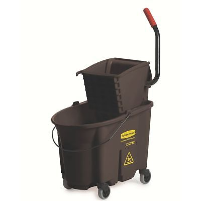 Rubbermaid FG758088 WaveBrake 35 Quart Side Press Wringer Combo