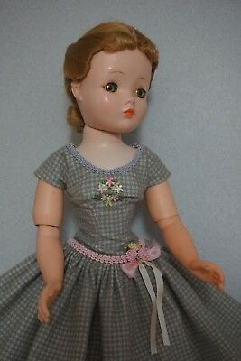 "Grey Flannel Dress, for 20-21"" Vintage & Modern Cissy MA Doll"
