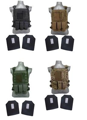 Tactical Scorpion Gear Level III+ / AR500 Body Armor Plates Wildcat Molle Vest