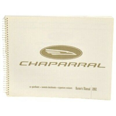 Chaparral Boat Owners Manual | 2002