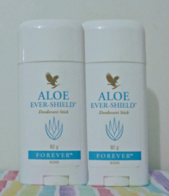 2xForever Living Aloe Vera  Ever Shield Deodorant Stick ** ORGANIC** NEW  *MADE