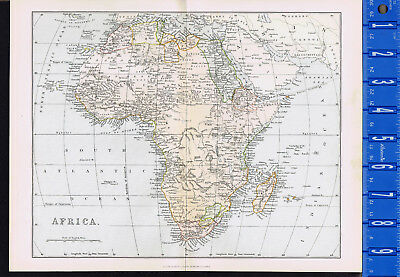 Continent of AFRICA: 1885 Mackenzie Color Map