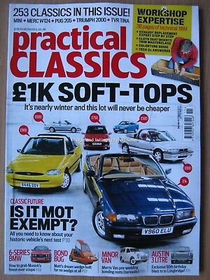 Practical Classics November 2017 Austin 3 Litre Bond Bug Minor Van BMW 6 Series