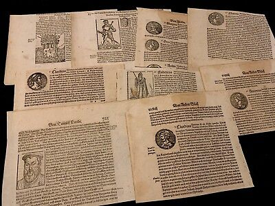 COLLECTION OF TENTEN INCUNABULA BOOK FRAGMENTS 1400s