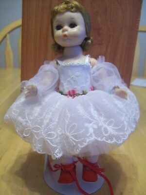 "VINTAGE MADAME ALEXANDER 8"" BKW  DOLL TAGGED ""Red Shoes Ballerina M Alexander"""