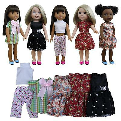"""5pcs Fahion Doll Clothes Outfits Dresses for 14""""-14.5"""" Doll & 18 inch Girl Doll"""