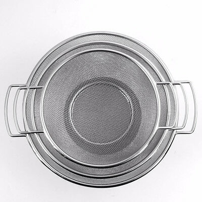 STAINLESS STEEL MESH SIEVE WITH DUAL WIRE HANDLE STRAINER Draining Sifter Tool