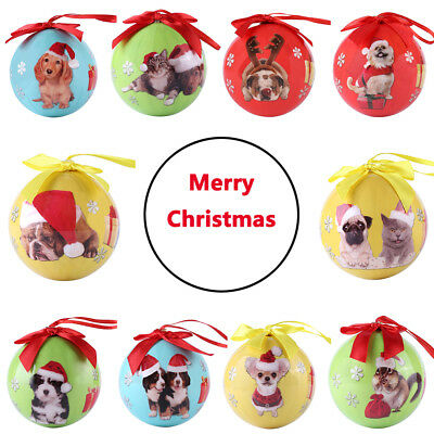Animal Collection Christmas Balls Ornament Baubles Xmas Tree Party Hanging Decor
