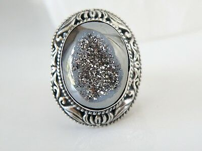 NEW BALI Sterling Silver Chunky Ornate Small ROUND Toggle Clasp Oxidized