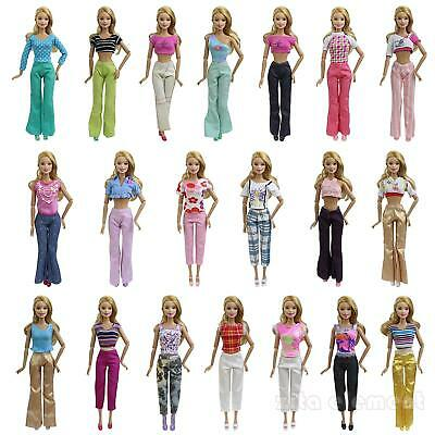 """5 Set Blouse + Trousers Pants Outfit Casual Wear Handmade for 11.5""""  Clothes LOT"""
