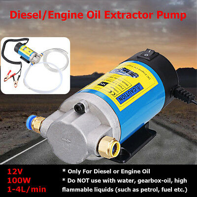 100W 12V Electric Oil Transfer Pump Extractor Fluid Diesel Siphon Car Motorcycle