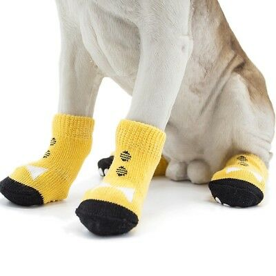 4Pcs Dog Cat Cotton Anti-slip Socks Puppy Knit Weave Skid Pet Bottom Shoes US