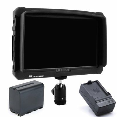 Lilliput 7inch 1920x1200 IPS 4K HDMI Field Monitor + Battery For Sony A7S Camera