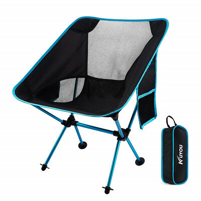 KUYOU Outdoor Fold Up Chairs Beach Ultralight Portable Camping With Carry Bag UK