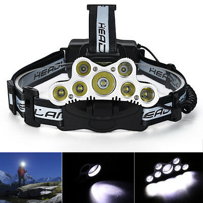 120000LM LED Rechargeable Headlight Torch T6 Headlamp Head Light Lamp 18650 +USB