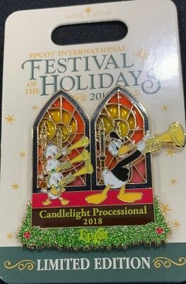 Disney EPCOT FESTIVAL OF HOLIDAYS CANDLELIGHT PROCESSIONAL 2018 Trading Pin