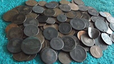 JOB LOT OF 1.7 KGS OF OLD BRITISH COPPER COINS WITH ( FREE POSTAGE ) 99p 42Y BD