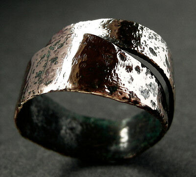 Rare Genuine Viking Bronze Serpent Ring