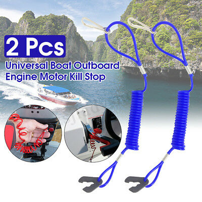 2X Boat Outboard Engine Motor Lanyard Kill Stop Switch Safety Tether For Yamaha