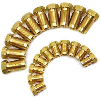"""M10 x 1mm Short Male and Female Brass Brake Pipe Fittings for 3/16"""" Pipe 20pc"""