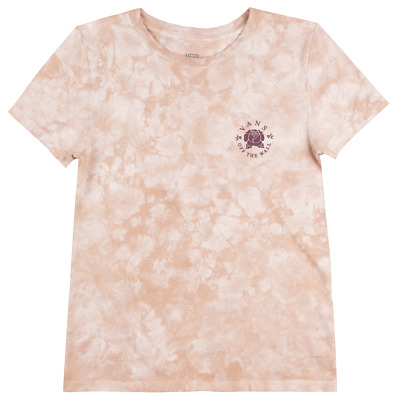 f8348d5bea332d Vans Off The Wall Otw Mini Rose T-Shirt Womens Skateboard Tee Pink Tie Dye