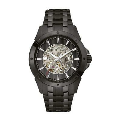 Bulova Men's Automatic Stainless Steel Casual Watch, Color:Black (Model: 98A147)