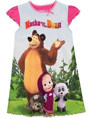 Masha and the Bear Nightdress | Girls Masha & Bear Nightie | Kids Masha Bear PJs