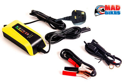 Motobatt Water Boy Waterproof 12v / 6v Motorcycle Quad Smart Battery Charger