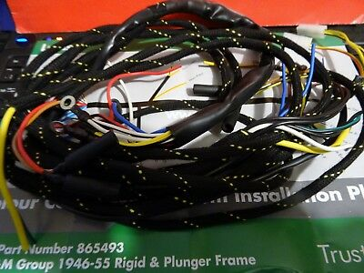 Bsa  M20/m21/m33 And B Models  Clothbound Wiring Harness