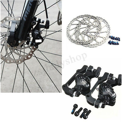 MTB Bike Mechanical Disc Brake Cycling Bicycle Front Rear Set with 160mm Rotors