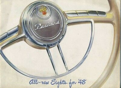 Brochure Depliant Originale Packard Eights 1948 (B11)