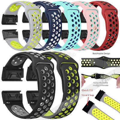 For Garmin Fenix 3 5 5X 5 Plus S60 Forerunne 935 Soft Silicone Wrist Band Strap
