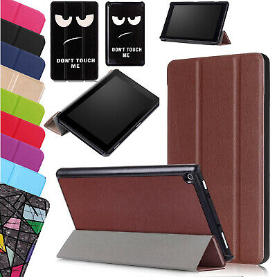 Leather Smart Stand Case Slim Magnetic Cover For Amazon Fire HD 10 2017 7th Gen