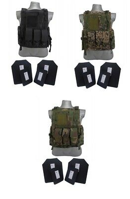 Tactical Scorpion Gear 4 Pc Level III+ / AR500 Body Armor Plates Bearcat Vest