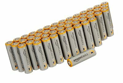 amazonbasics AA Alkaline Batteries 48 Pack New Sealed Expiration Date 02/2028
