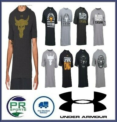 New Under Armour Project Rock Training Tshirt Brahma Bull (US Sizing)