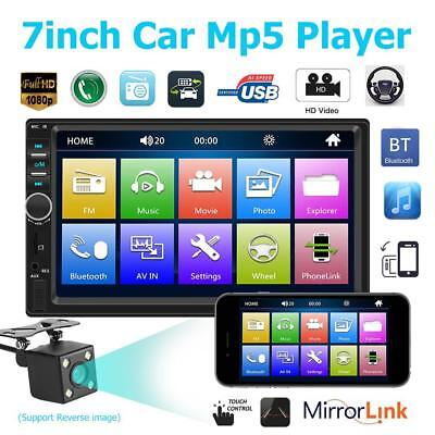 "7"" 2Din HD 1080P Car Stereo Radio Bluetooth MP5 Player Car Rear View + Camera"